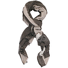 Buy Chesca Checked Cashmere Scarf, Grey Online at johnlewis.com
