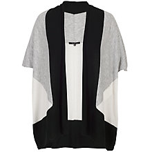 Buy Chesca Colour Knitted Gilet, Black/Grey Online at johnlewis.com