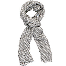 Buy Chesca Bark Weave Cashmere Scarf, Silver/Ivory Online at johnlewis.com