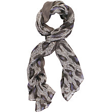 Buy Chesca Leopard Print Scarf, Grey Online at johnlewis.com