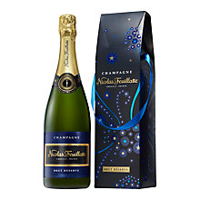Buy Nicolas Feuillatte Brut Reserve 'Festive Bag', 75cl Online at johnlewis.com