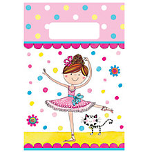 Buy Rachel Ellen Ballerina Party Bags, Pack of 8 Online at johnlewis.com