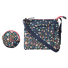 Buy Fat Face Children's Floral Print Bag and Purse, Light Navy/Multi Online at johnlewis.com