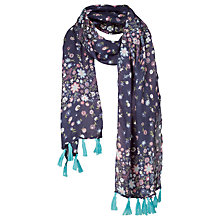 Buy Fat Face Girls' Floral Print Scarf, Light Navy Online at johnlewis.com
