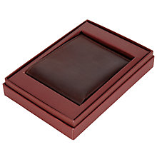 Buy JOHN LEWIS & Co. Leather Bifold Wallet, Brown Online at johnlewis.com