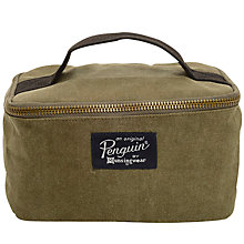Buy Original Penguin Waxed Canvas Dopp Kit Wash Bag, Olive Online at johnlewis.com