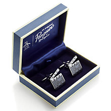 Buy Original Penguin Clapper Board Cufflinks, Silver Online at johnlewis.com