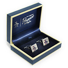 Buy Original Penguin 3D Penguin Cufflinks, Silver Online at johnlewis.com
