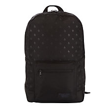 Buy Original Penguin Tonal Penguin Print Backpack, Black Online at johnlewis.com
