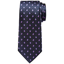 Buy Hackett London Textured Foulard Silk Tie, Navy/Pink Online at johnlewis.com