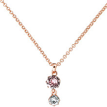 Buy Ted Baker Chiione Crystal Crown Pendant, Rose Gold/Rose Online at johnlewis.com
