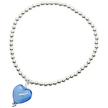 Buy Martick Sterling Silver Murano Heart Charm Beaded Ball Bracelet Online at johnlewis.com