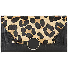Buy Dune Kowlock Circular Lock Purse, Leopard Online at johnlewis.com