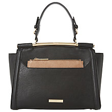 Buy Dune Diara Curve Frame Shoulder Bag, Black Online at johnlewis.com