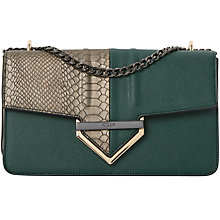 Buy Dune Dabulous Chain Strap Shoulder Bag, Green Online at johnlewis.com