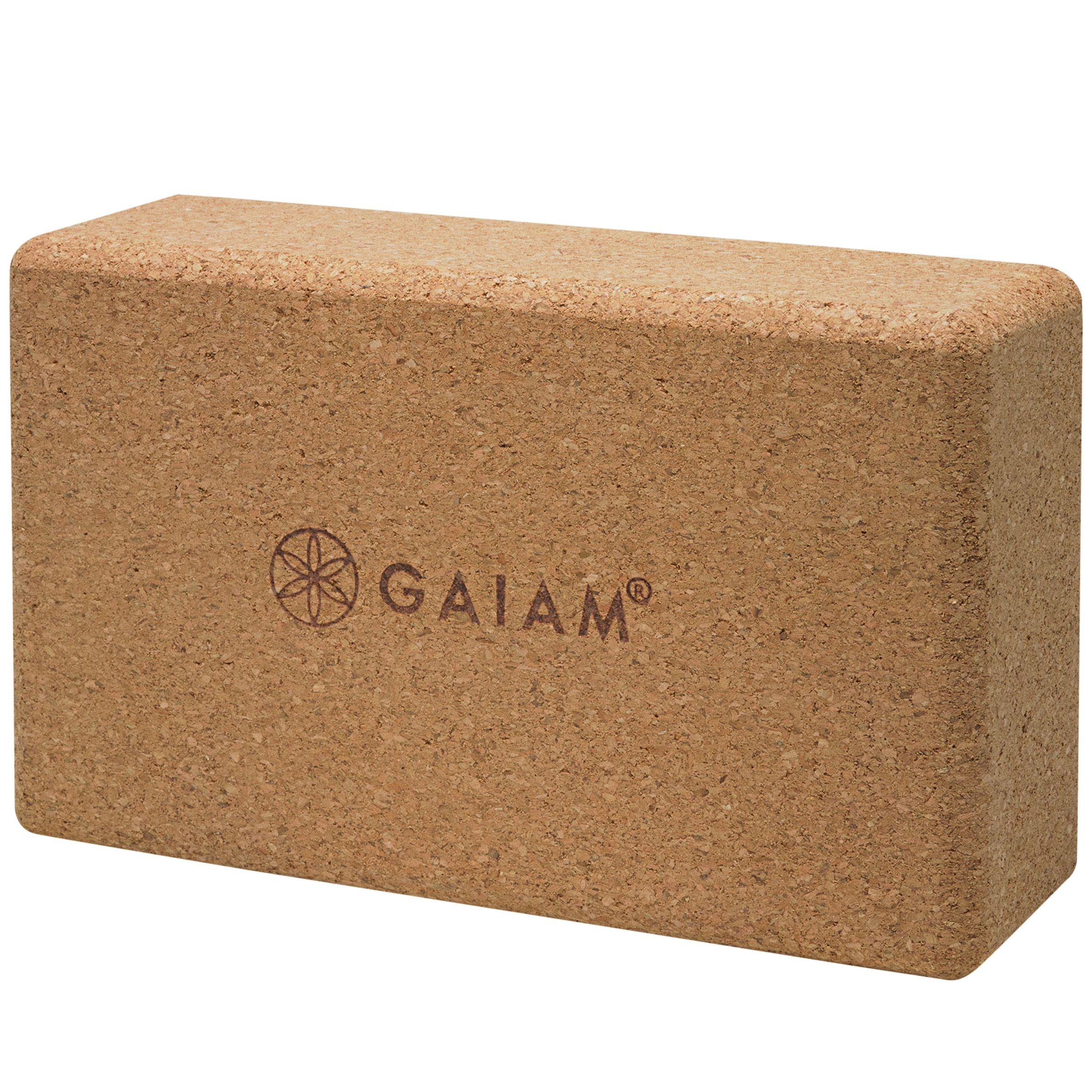 Gaiam Gaiam Cork Yoga Block, Brown