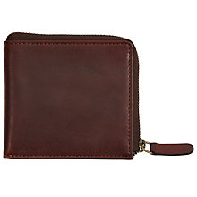 Buy JOHN LEWIS & Co. Leather Zip Wallet, Brown Online at johnlewis.com