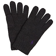 Buy Polo Ralph Lauren Merino Wool Gloves, One Size, Grey Online at johnlewis.com