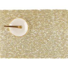 Buy Chilewich Metallic Lace Rectangular Placemat, Gold Online at johnlewis.com