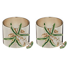 Buy Joanna Buchanan Palm Tree Napkin Ring, Set of 2 Online at johnlewis.com