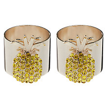 Buy Joanna Buchanan Pineapple Napkin Ring, Set of 2 Online at johnlewis.com