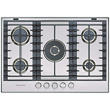 Buy KitchenAid KHMD577510 Gas Hob Online at johnlewis.com