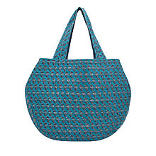 Buy East Booti Print Cotton Bag, Teal Online at johnlewis.com