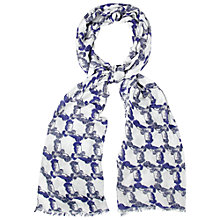Buy White Stuff Owl Print Scarf, Blue Online at johnlewis.com