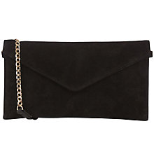 Buy Oasis Suede Jess Envelope Clutch Bag Online at johnlewis.com