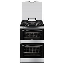 Buy Zanussi ZCG43000BA Gas Cooker Online at johnlewis.com