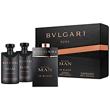 Buy Bulgari Man In Black 60ml Eau de Parfum Fragrance Gift Set Online at johnlewis.com