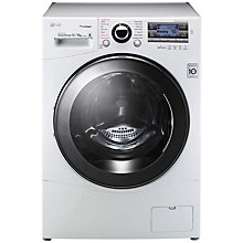 Buy LG FH695BDH2N Freestanding Washer Dryer, 12kg Wash/8kg Dry Load, A Energy Rating, 1600rpm Spin, White Online at johnlewis.com
