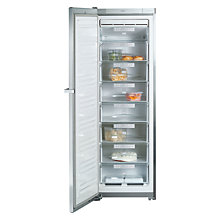 Buy Miele FN14827SED/CS-1 Freestanding Freezer, A++ Energy Rating, 60cm Wide, Silver Online at johnlewis.com