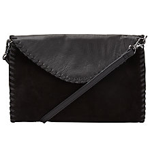 Buy Pieces Gesma Suede Across Body Bag, Black Online at johnlewis.com