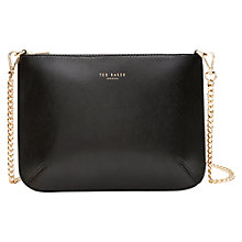 Buy Ted Baker Nara Across Body Leather Bag, Black Online at johnlewis.com