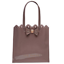 Buy Ted Baker Belacon Bow Large Shopper Bag, Mid Purple Online at johnlewis.com