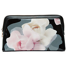 Buy Ted Baker Porcelain Rose Large Wash Bag, Black Online at johnlewis.com