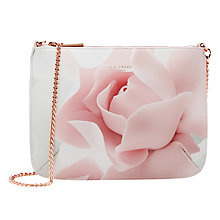 Buy Ted Baker Verah Porcelain Rose Across Body Leather Bag, Nude Pink Online at johnlewis.com