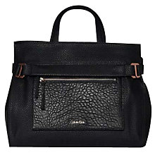 Buy Calvin Klein Cecile Tote Bag, Black Online at johnlewis.com