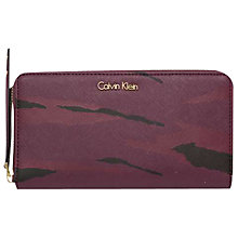 Buy Calvin Klein Marissaa Large Zip-Around Purse, Bordeaux Online at johnlewis.com