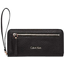 Buy Calvin Klein Cecile Large Zip-Around Purse, Black Online at johnlewis.com