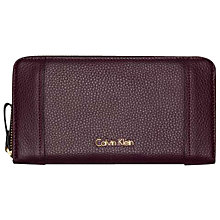 Buy Calvin Klein Keyla Large Leather Zip-Around Purse Online at johnlewis.com