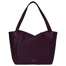 Buy Calvin Klein Misha Large Tote Bag, Bordeaux Online at johnlewis.com