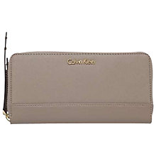 Buy Calvin Klein Marissa Large Zip-Around Purse, Fungi Online at johnlewis.com