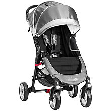Buy Baby Jogger City Mini 4-Wheel Pushchair, Steel Grey Online at johnlewis.com
