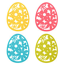 Buy John Lewis Easter Egg Coaster, Set of 4 Online at johnlewis.com