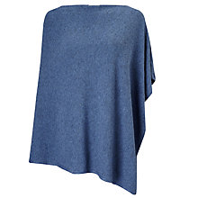 Buy East Asymmetric Knitted Poncho, Dusk Online at johnlewis.com