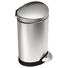 Buy simplehuman Fingerprint Proof Bathroom Pedal Bin, 6L Online at johnlewis.com