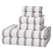 Buy John Lewis 6 Piece Towel Bale, Bale Storm Stripe Online at johnlewis.com