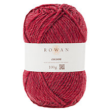 Buy Rowan Cocoon Chunky Merino Wool Mix Yarn, 100g, Scarlet 847 Online at johnlewis.com